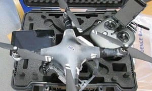 The drone used by Daniel Kelly