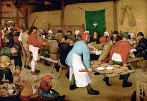 The Peasant Wedding by Pieter Bruegel the Elder, 1567.