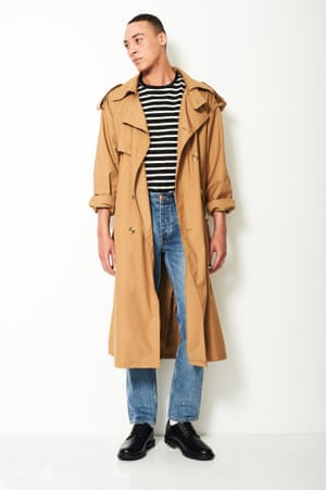 Model wears Trench coat £395, blood-brother.co.uk Jeans £140, wonhundred.com Shoes £59, marksand spencer.com T-shirt as before