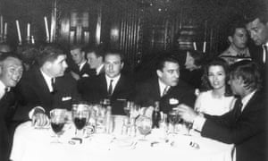 Foreman (centre) with, to his left, Ronnie Kray and Christine Keeler, circa 1963.