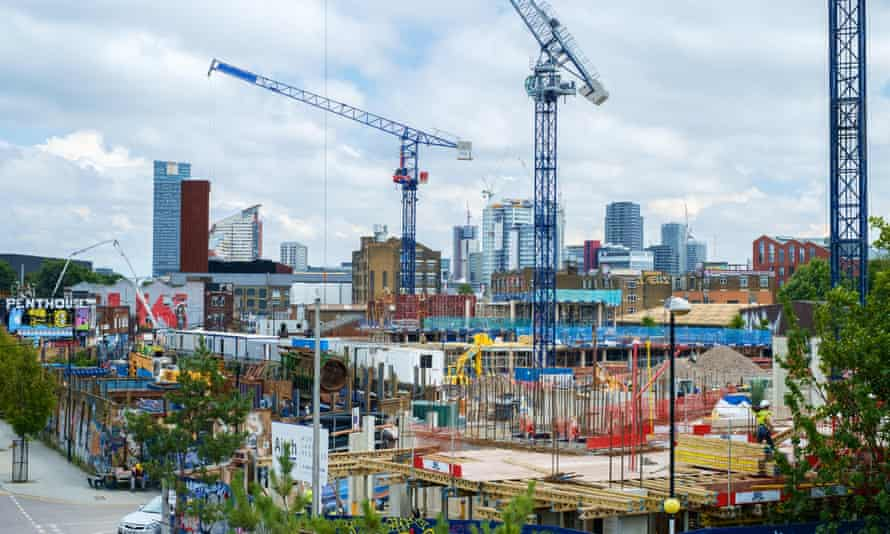 Housing construction in Hackney Wick near the Olympic Park.