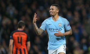 Three is the magic number for Gabriel Jesus and Manchester City.