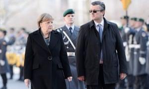 Angela Merkel and Croatia's prime minister, Tihomir Orešković, in Berlin