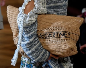 A sustainable straw bag. Stella McCartney does not use leather.