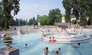 Palatinus open-air thermal water park, Margaret Island, Budapest, Hungary