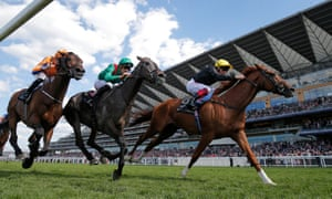 Frankie Dettori steers Stradivarius to success in the Gold Cup.