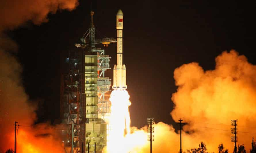 The Tiangong-2 space lab launches from Jiuquan on 15 September.