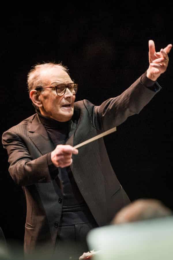 Ennio Morricone conducting.