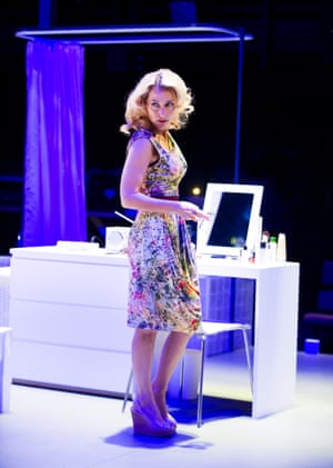 Anderson as Blanche DuBois in the Benedict Andrews production of A Streetcar Named Desire at the Young Vic in London in 2014