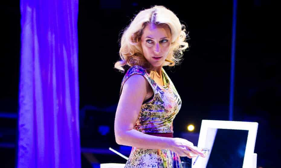 Gillian Anderson as Blanche DuBois in A Streetcar Named Desire.