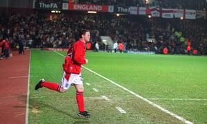 Wayne Rooney made his international debut at Upton Park in 2003.