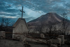 Many tombs were damaged in the latest volcanic eruption