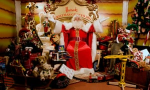 Father Christmas in his grotto at Harrods in 2011.