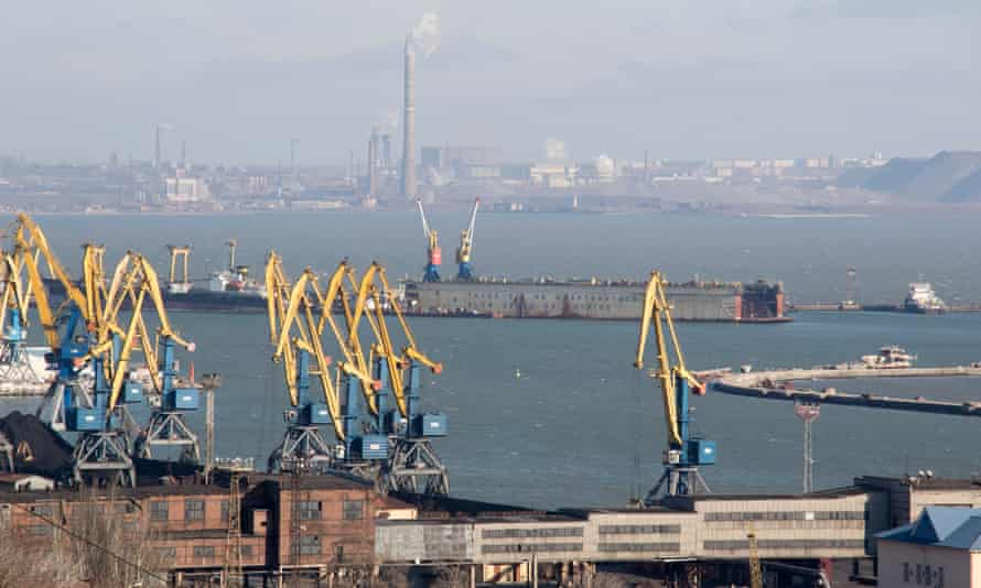 The seaport in Mariupol.