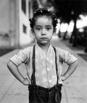 Girl with curlers, New York, 1949
