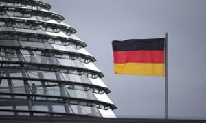 The dome of the Reichstag building where the German federal parliament Bundestag meets in Berlin.