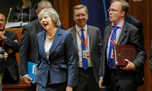 'Time is catching up with the prime minister': Theresa May at an EU summit meeting last October in Brussels