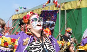 Day of the dead? A performer at Towersey festival, who lost out on funding this week.