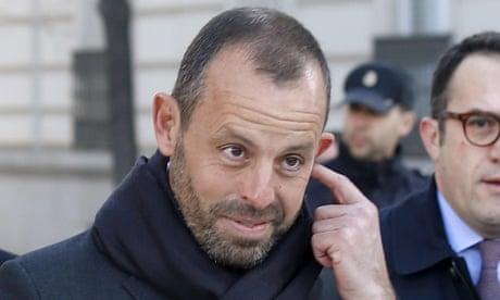 Former Barcelona president Sandro Rosell detained in police raid