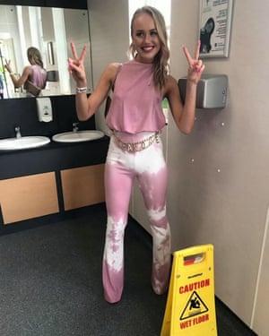 Eleanor Walton after the emergency tie-dyectomy.