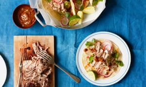 Thomasina Miers' caramelised pork belly tacos with tamarind relish