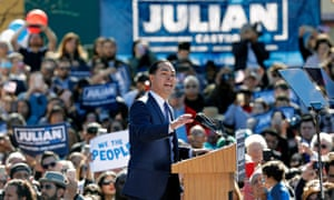 Julián Castro, the former housing secretary, announced his candidacy for president on 12 January 2019 in San Antonio, Texas.