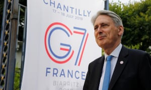 Chancellor Philip Hammond at the G7 meeting in France last week.