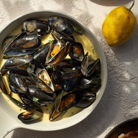 Mussels in a Creamy White Wine and Garlic Sauce The Seafood Shack: Food & Tales from Ullapool Kirsty Scobie and Fenella Renwick