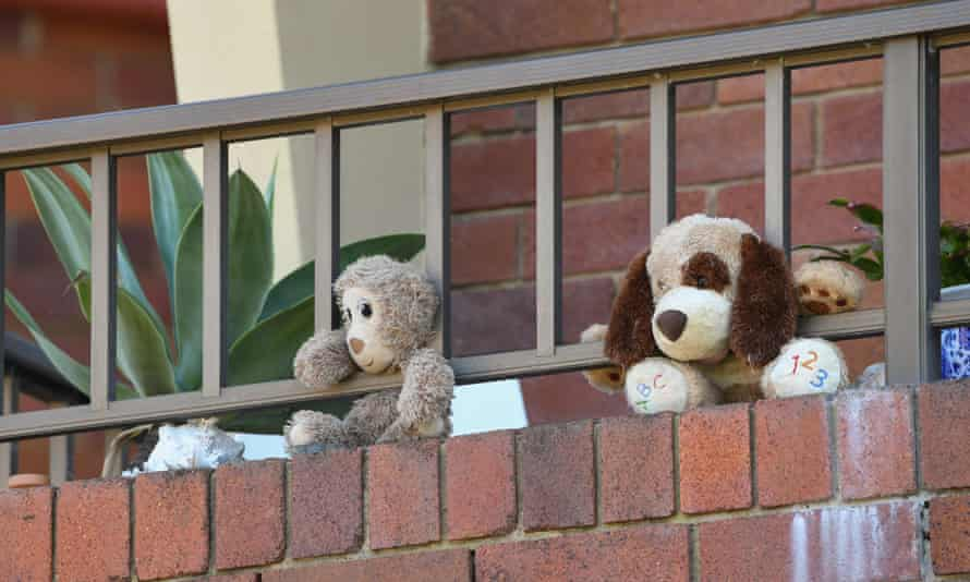 Soft toys placed to entertain children during coronavirus lockdowns.