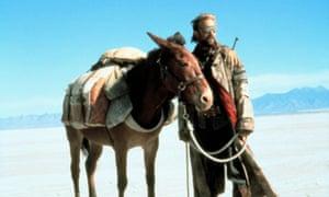 Blinded … Kevin Costner in The Postman, 1997.