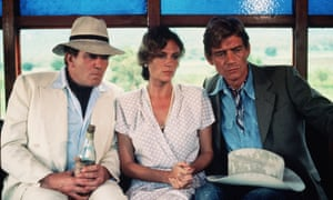 Albert Finney, Jacqueline Bisset and Anthony Andrews in Under the Volcano, 1985
