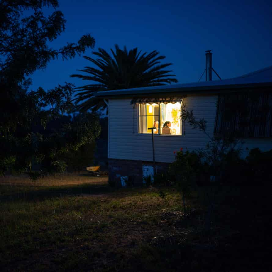 6.15am breakfast, Danthonia community, Australia. Families breakfast together early before work and school starts at 7.30am