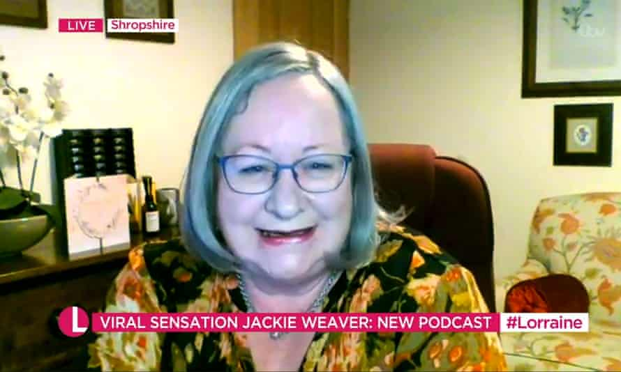 Jackie Weaver on ITV's Lorraine show, May 2021
