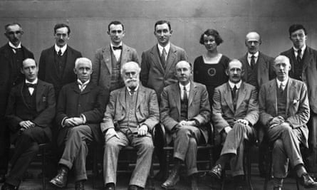 Photographs of Manchester Guardian editorial staff taken for the centenary of the newspaper in 1921. Archive ref: GUA/6/9/1/11/1/1.
