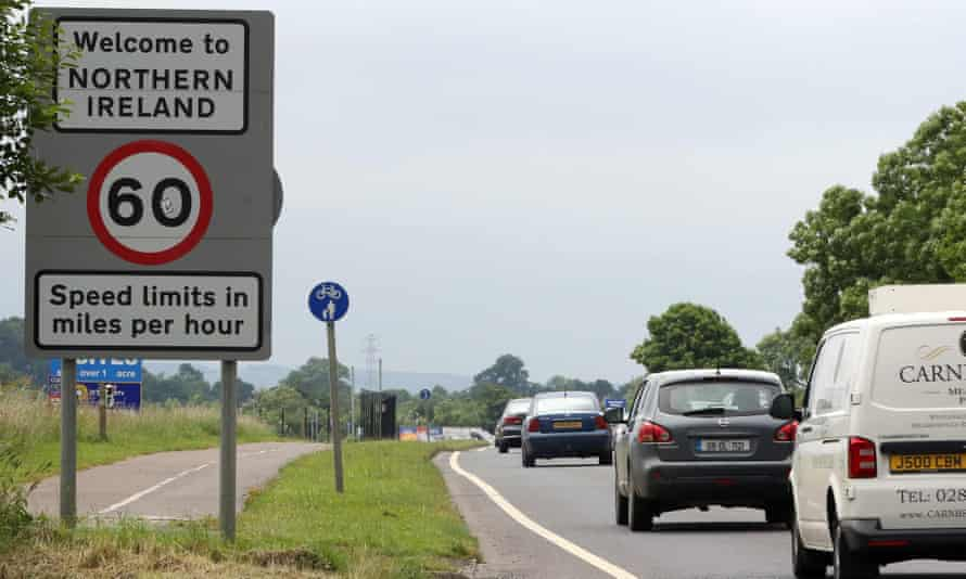 The border crossing from Donegal, Ireland, into Northern Ireland.