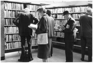 'The useful bookworm' — library users, September 1973.GNM archive ref: OBS/6/9/2/1/L Box 2