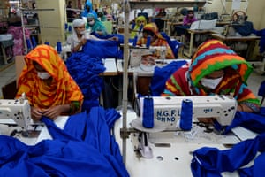 Garment factory workers in Dhaka