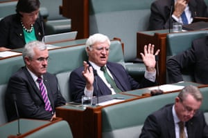 The member for Kennedy Bob Katter during question time in the House of Representatives in Canberra this afternoon, Thursday 3rd March 2016.
