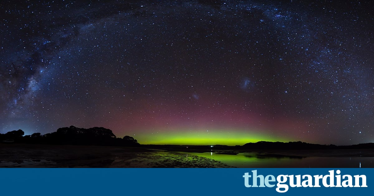 'Huge naked-eye beams': spectacular aurora australis lights up the southern skies