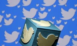 A 3D-printed Twitter logo