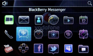 BBM display screen