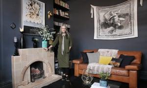Dark side: Michele Birch at home.