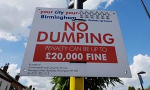 No dumping signs in Erdington.