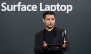 Panos Panay, vice president of Microsoft Surface Computing, speaks about the new Microsoft Surface Laptop.