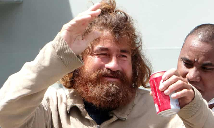José Salvador Alvarenga after being rescued following more than a year adrift at sea
