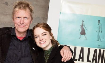 Marius de Vries with La La Land actor Emma Stone