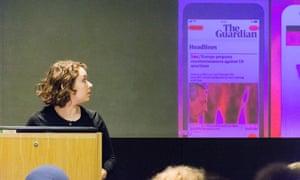 Sophia Lambrakis discusses how she became a Senior developer at Digital Development's Ada Lovelace Day at the GNM Education Centre.