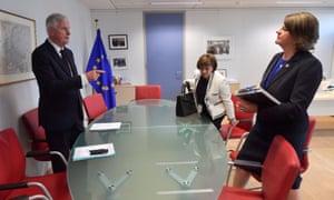 Michel Barnier, Diane Dodds and Arlene Foster