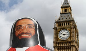 An inflatable model of Shaker Aamer in front of parliament at an Amnesty protest demanding his release. Aamer has twice been approved for release from Guantánamo.