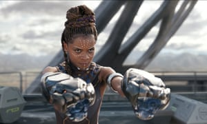 Terrific, Bafta-winning performance ... Letitia Wright in Black Panther.